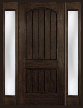 Arch Plank Square Top Rustic Fiberglass Door with 2 Sidelights & 257 best Doors ~ Interior \u0026 Exterior images on Pinterest | Windows ...