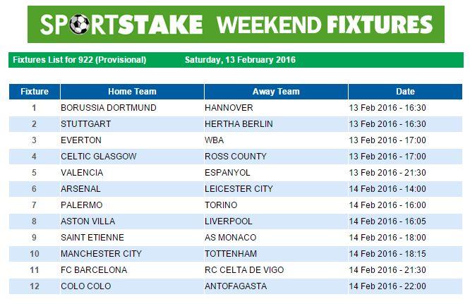 sportstake 13 weekend fixtures 13 april 2019 :: katubetmacd ml