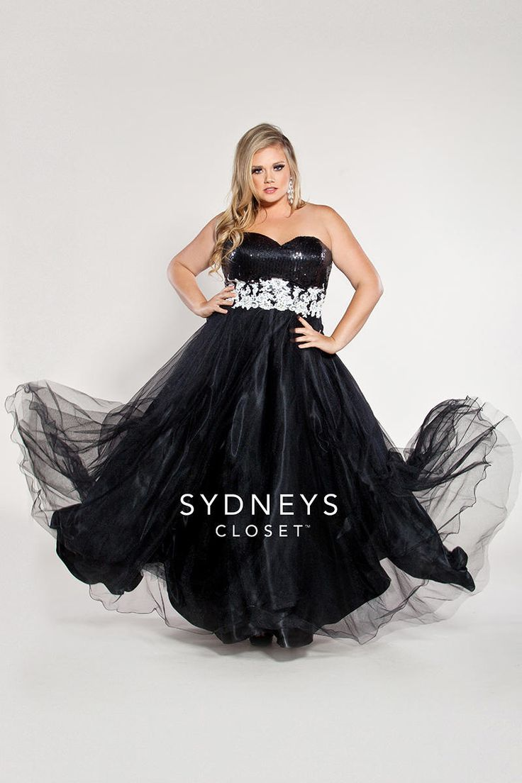 Sydneys Closet SC6003 Plus Size Ball Gown - French Novelty