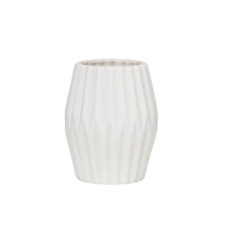 Tall White Porcelain Votive