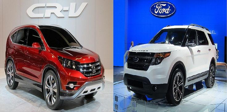 Ford Explorer is one of the best SUV car in the world, this new model of 2014 marked an incredible popularity among fans of SUV car, now we introduce you to compare this model with the also popular Honda SUV CR-V model.   2014 Ford Explorer: Have