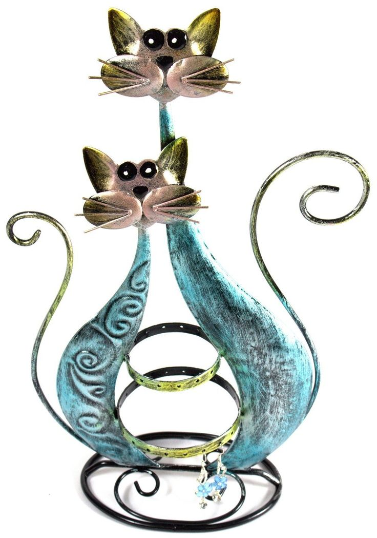 Amazon.com - Bejeweled Display®Twin Blue Cat Fancy Earring Stand~Organizer~Holder Jewelry Display w/ Gift Box -