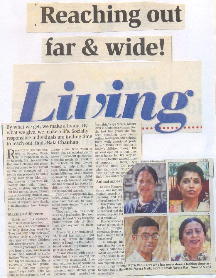 Reaching out far & wide!         - Deccan Herald -         18th Feb 2005
