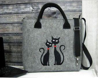 SAC pour ordinateur portable Laptop feutrine chat chat