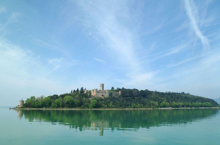 Guglielmi Castle on Isola Maggiore in Italy (Lake Trasimeno)
