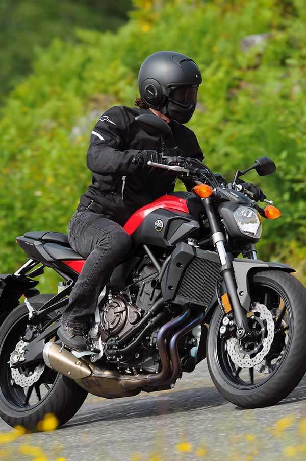 2015 Yamaha FZ-07, I'm digging the helmet, since it was the goggles and face shield, instead of the full face visor.