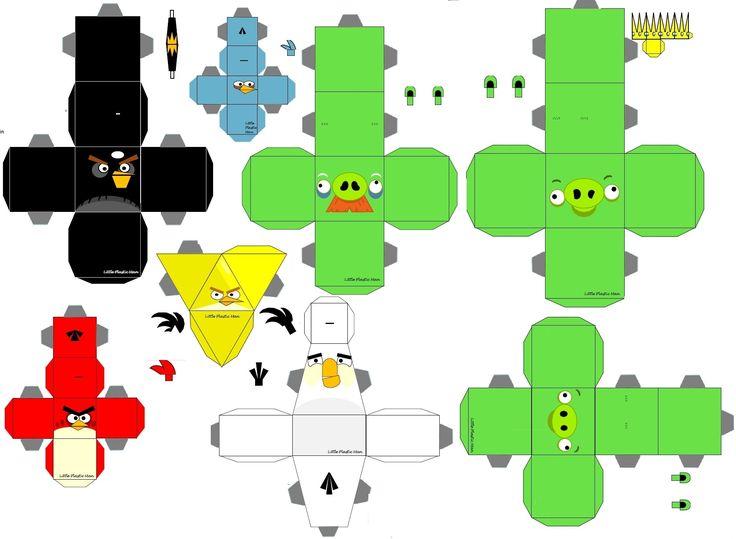 Angry Birds para imprimir y armar