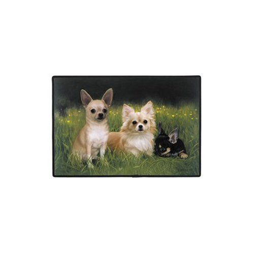 Fiddler's Elbow Chihuahuas / Path Doormat by Fiddler's Elbow. $18.50. Non-skid rubber backing, durable polypropylene web trim.. Exceptional customer service and unparalleled product expertise.. Chihuahuas / Path Doormat.. The manufacturer is Fiddler's Elbow.100% genuine brand names.. 100% Polyester face, permanently dye printed & fade resistant.. FEX37 Features: -Material: 100pct polyester face.-Durable polypropylene web trim.-Non-skid rubber backing.-Permanently dye printed...