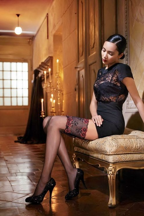 Elegant thigh high stockings and sparkly pumps | Stockings ...