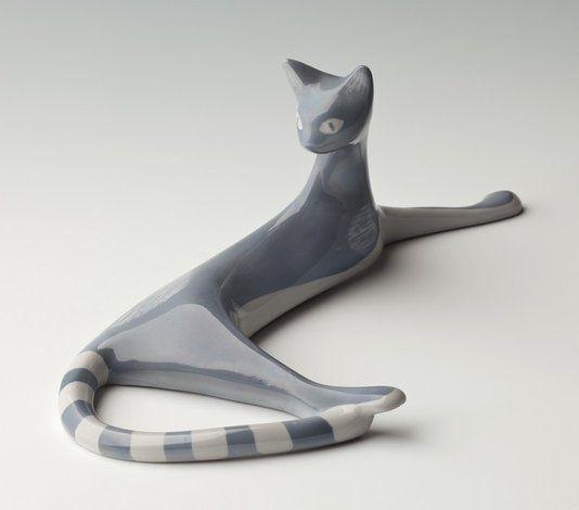 1958, Kot Leżący, Ćmielów, projekt formy M. Naruszewicz