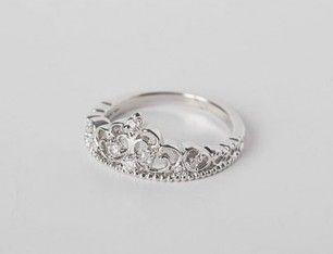Elegant Silver Crown Ring