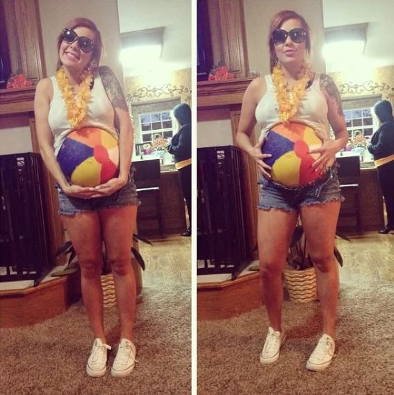 beach-party funny pregnant halloween costumes