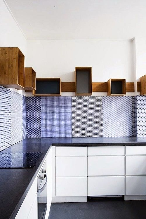 mix of tiles, wooden boxes