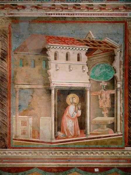 Bild:   Giotto (di Bondone) - Das Gebet von S.Damiano, 1295