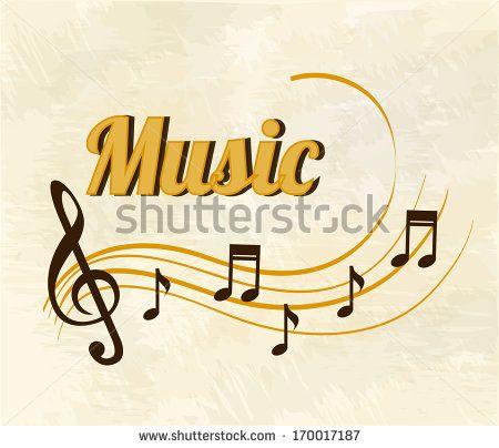 musical design over  pattern  background vector illustration