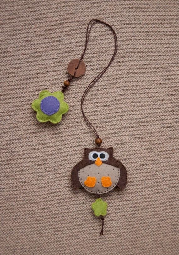 Big owl #felt bookmark by suyika on Etsy, $15.00