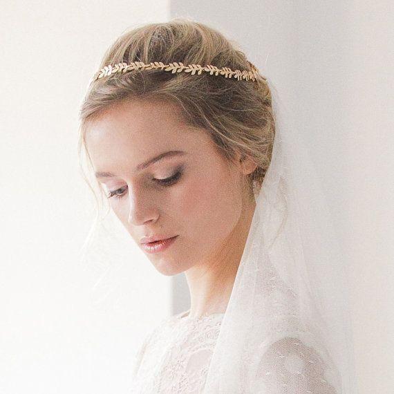 Gold leaf halo, Gold leaf wedding crown, gold leaf bridal circlet, gold leaf wedding headband – #Bridal #Circlet #Crown #gold #halo #Headband #leaf #wedding
