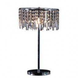 Crystal bedside lamp