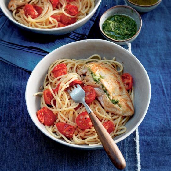 Het recept van de dag is: Gevulde kip met pesto en mozzarella!