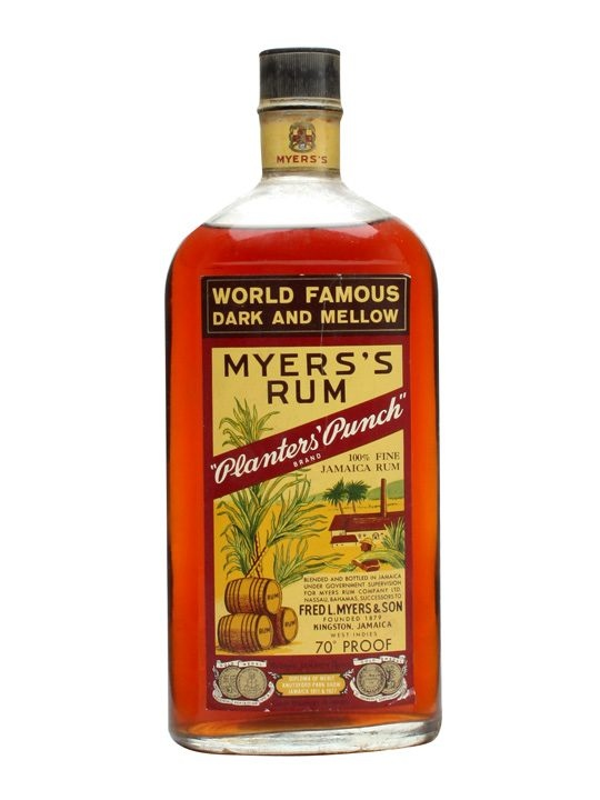 Myers's Rum / Planters' Punch / Bot.1960s : Buy Online - The Whisky Exchange - An old bottle of Myers's rum. We estimate that this was bottled sometime in the late 1960s. Bearing its renowned slogan