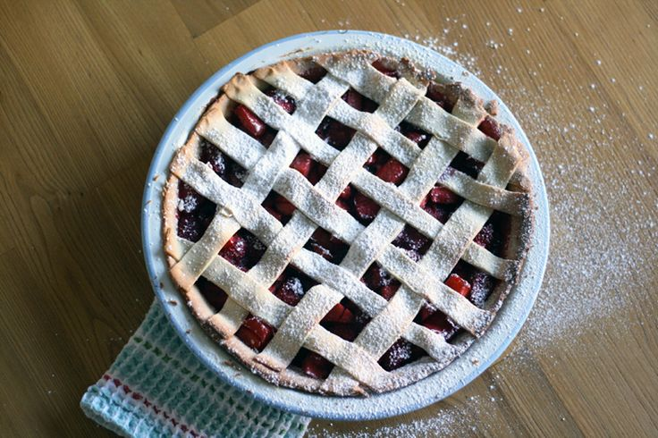 Strawberry, Apple and Vanilla Lattice Pie | Made From Scratch
