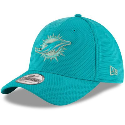Miami Dolphins New Era Team Color Tone Tech Redux 39THIRTY Flex Hat - Aqua
