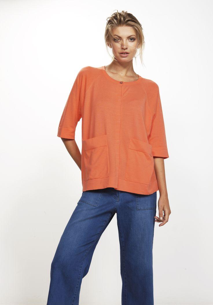 Idle Cardi - colour Melon 100% cotton http://www.nineteen46.co.nz
