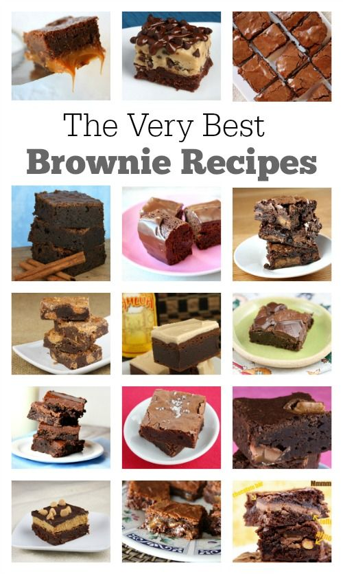 15 of the Very Best Brownie Recipes: Fudgy Caramel Brownies, Chocolate Chip Cookie Dough Brownies, Butterfinger Brownies, Kahlua Brownies and more!