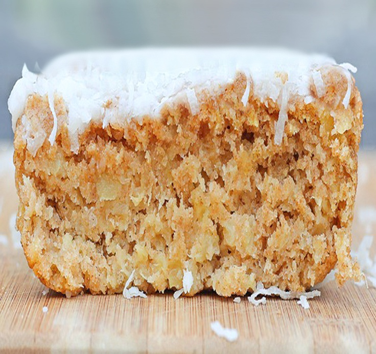 Big Fat Coconut Breakfast Cake... with just 60 calories per slice!