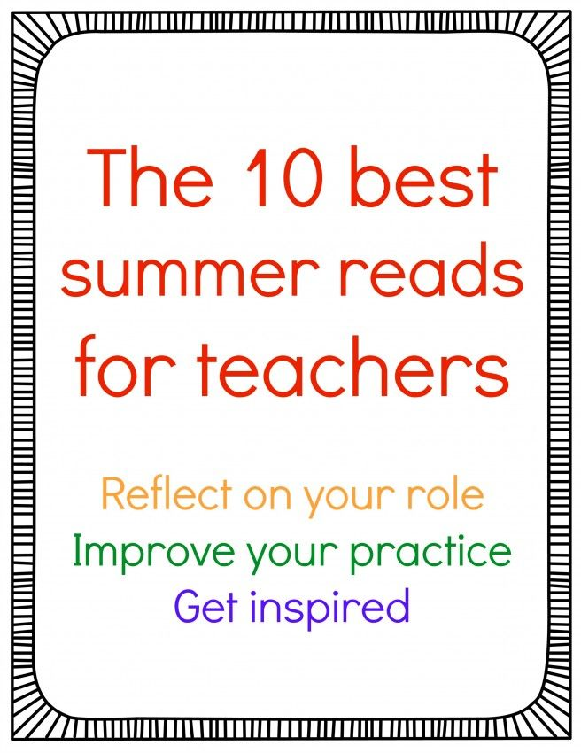 Great recommendations for professional books to read before the new school year!