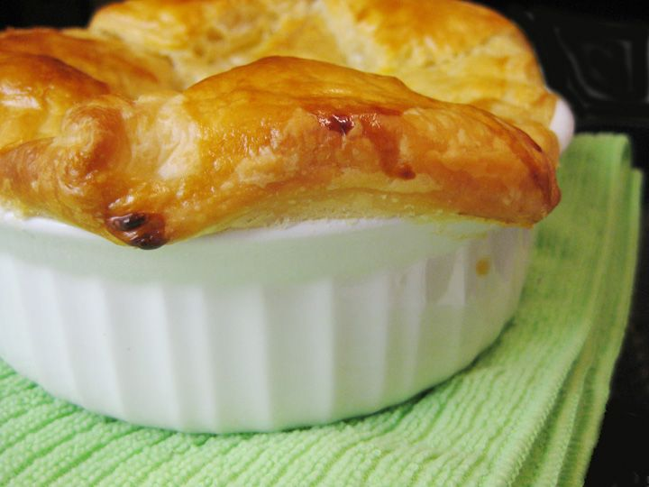 Chicken Puff Pot Pie... I will probably just use cream of potato soup ...