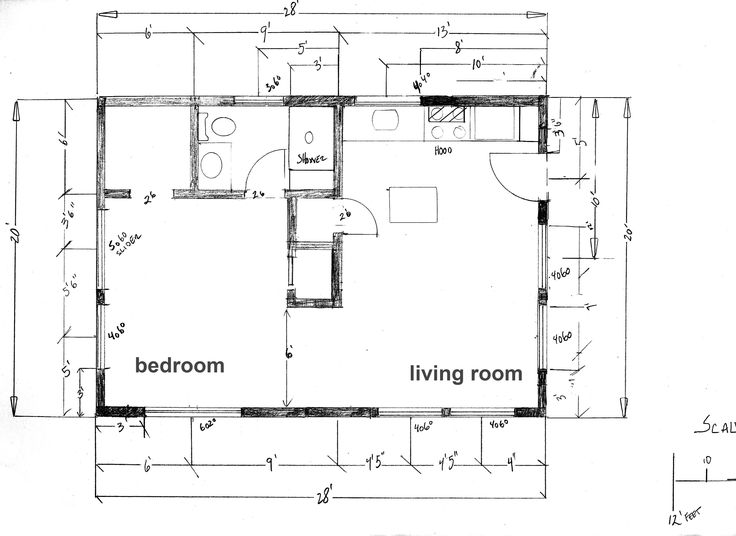 Tiny House Floor Plans | Floor Plan – Cabin at the Beach | Under 600 Square Feet