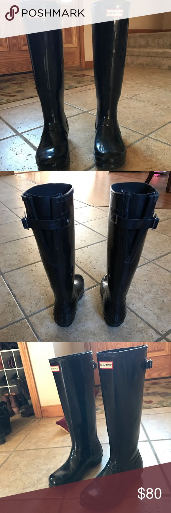 Hunter boots Good condition! Wide calf Hunter Boots Shoes Winter & Rain Boots