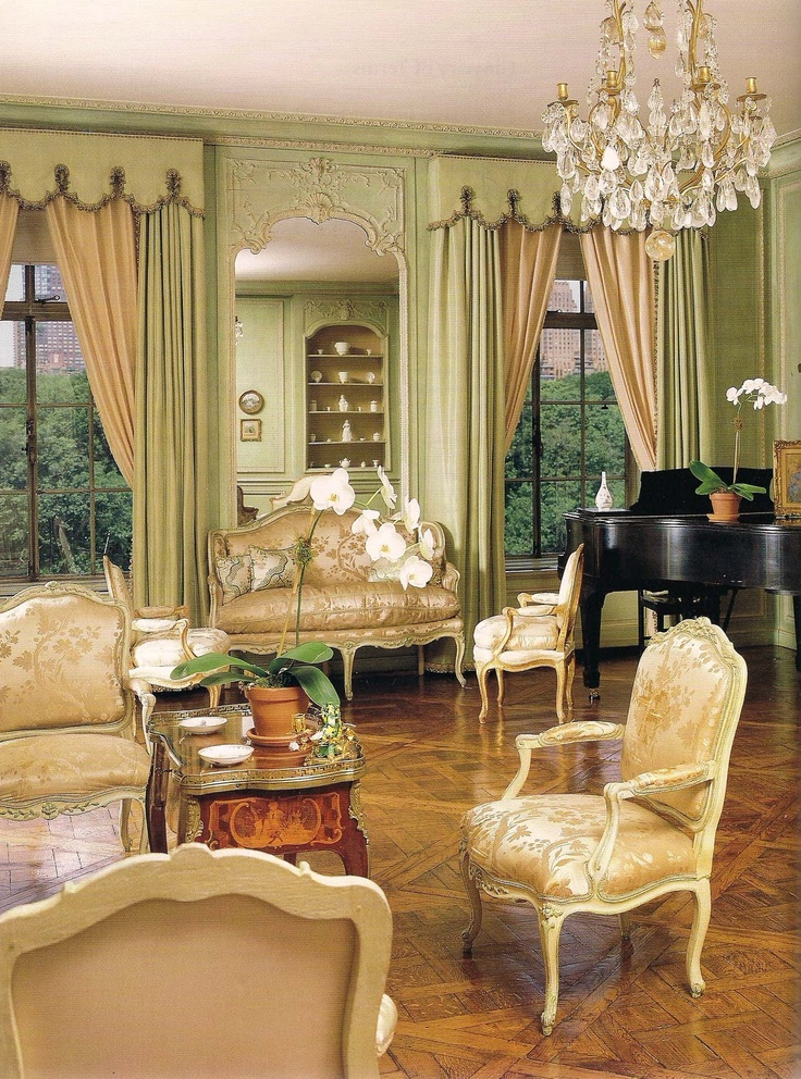 Posh Manhattan Apartment Decorated From 1959 1960 By The Legendary Parisian Firm Maison Drapes CurtainsLiving Room