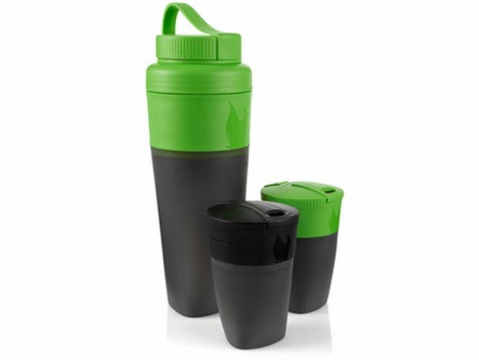 Pack-Up Drink Kit - Black/Green. Kit bestaande uit: 2 Pack up cups en 1 Pack up bottle, http://www.urbansurvival.nl/index.php?item=pack-up-drink-kit---black_green&action=article&group_id=20000022&aid=34329&lang=nl
