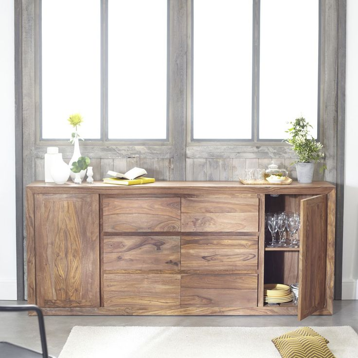 Buffet en palissandre 200 villa buffet bahut for Sideboard 40 cm