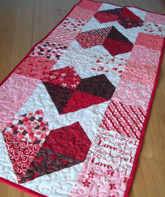 valentine table runner charming hearts in lamour