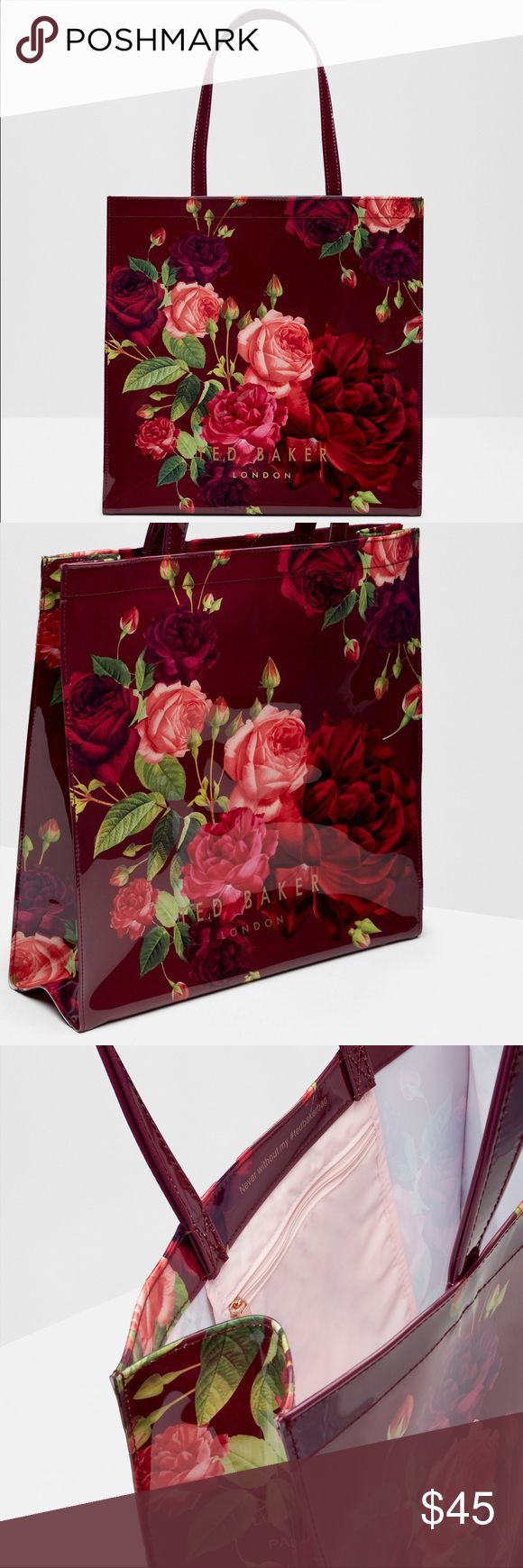 Ted Baker Juxtapose Rose Large Shopper Bag Beautiful & popular print! Used once. Perfect condition! Ted Baker Bags Totes