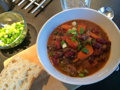 Hmmmm, yummy. An easy scrumptious chili recipe loaded up with veggies: http://www.thesegirlslovefood.com/2014/03/a-mild-veggie-chili.html