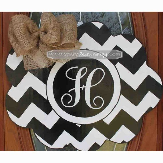 1000 ideas about chevron monogram on pinterest anchor for Baby shower front door decoration ideas