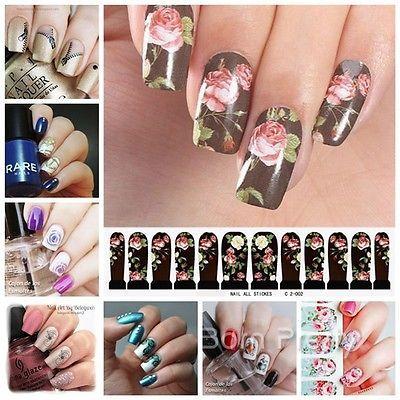 Nagel Sticker Nail Art Water Transfer Tattoo Aufkleber Dekoration 20 Muster