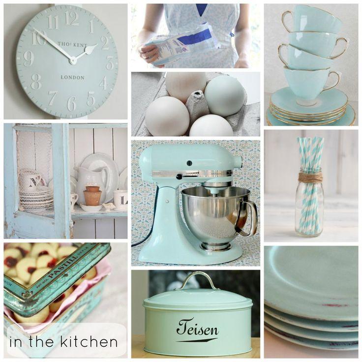 From blog - Going ducking bonkers for duck egg blue. Kitchen
