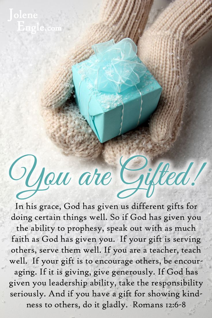 You are gifted! Discovering your spiritual gift.{click to read}