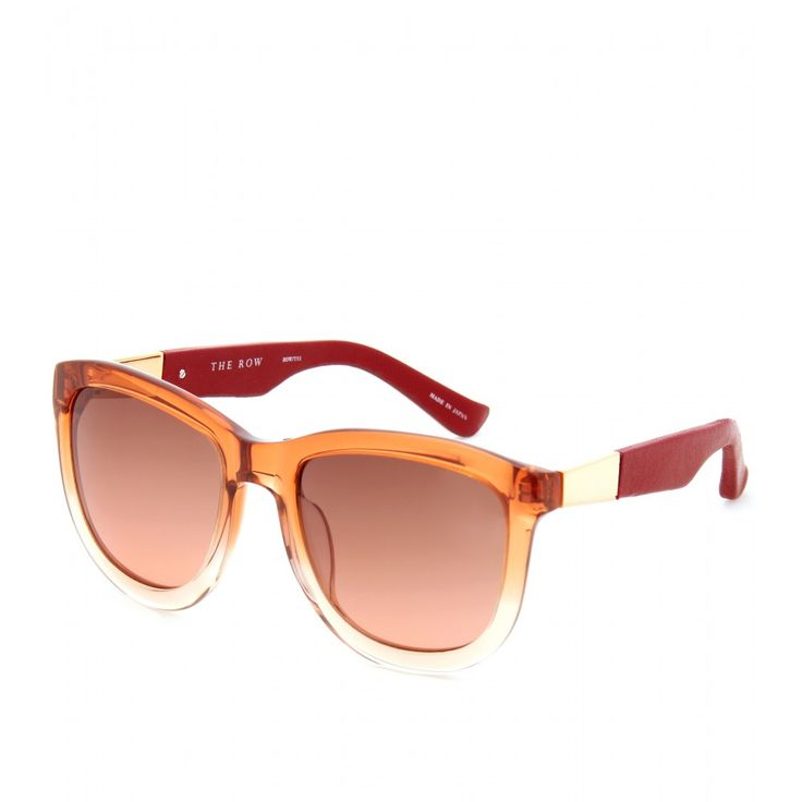 The Row...Leather Detailed Gradient Sunglasses