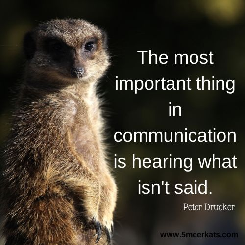 The most important thing in communication is hearing what isn't said. #communication