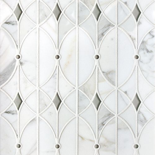 Welcome to Artistic Tile-valencia lucido glass and stone water jet mosaic