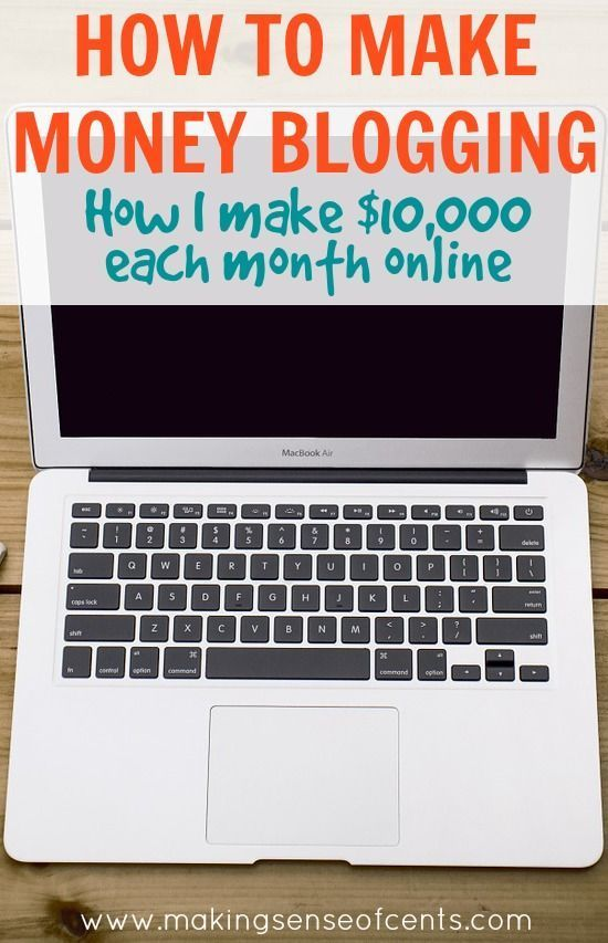 How To Make Money Blogging. Making money blogging is possible. There are several ways to make money blogging and you can read all about how I make a living online in this post. http://www.makingsenseofcents.com/2013/04/how-to-make-money-blogging.html