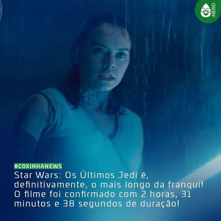 #CoxinhaNews O recorde anterior era de A Vingança dos Sith com 2 horas e 20 minutos de duração!   #TimelineAcessivel #PraCegoVer  Imagem da Rey (Daisy Ridley) em Star Wars: Os Últimos Jedi e a legenda: Star Wars: Os Últimos Jedi é definitivamente o mais longo da franqui! O filme foi confirmado com 2 horas 31 minutos e 38 segundos de duração!  TAGS: #nerd #geek #geekstuff #geekart #nerd #nerdquote #geekquote #curiosidadesnerds #curiosidadesgeeks #coxinhafilmes #filmes #movies #cinefilos…