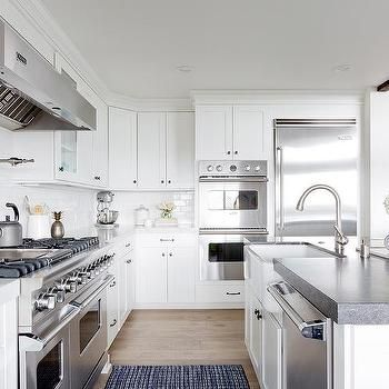 White Kitchen with Viking Appliances