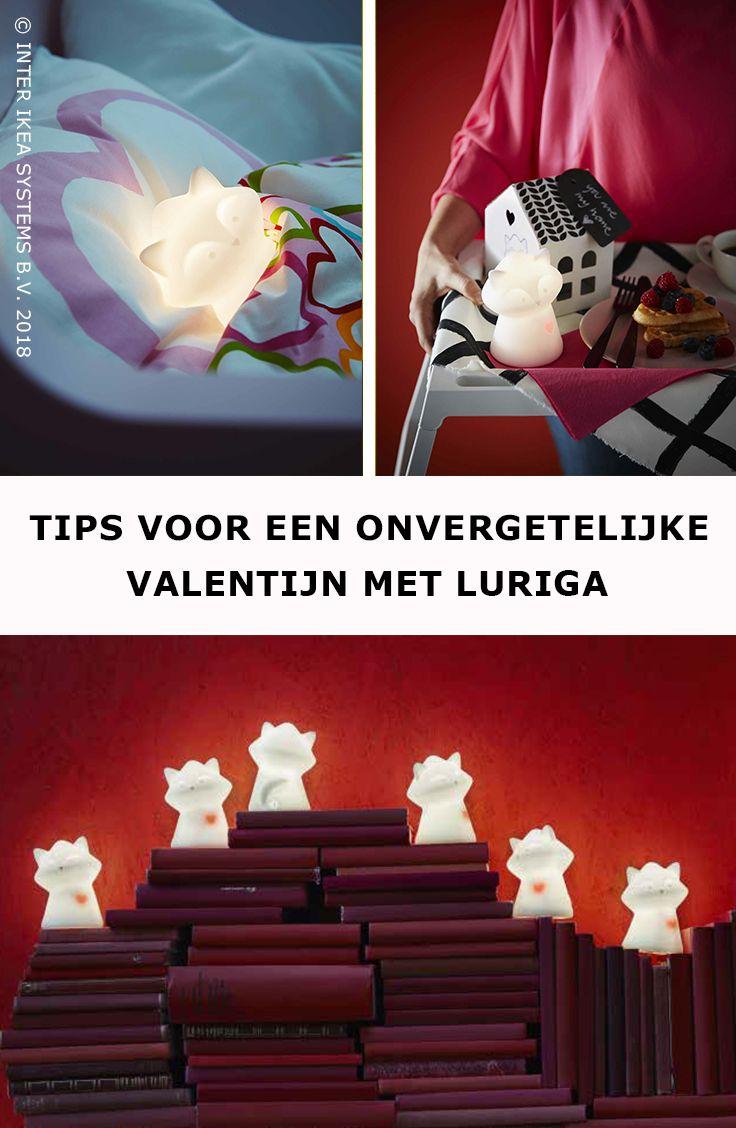 Toon wat liefde op Valentijn met ... ons LURIGA wasbeernachtlampje! Bij het ontbijt, het wakker worden of het slapengaan, ga voor een liefdevol geschenk dat je hart sneller doet kloppen. LURIGA Led-nachtlampje, 14,99/st. #IKEABE #IKEAidee  Show some love on Valentine's Day with ... our LURIGA night light! During breakfast, when waking up or when it's time for bed, go for a loving gift that makes your heart skip a beat. LURIGA Night light, 14,99/pce. #IKEABE #IKEAidea
